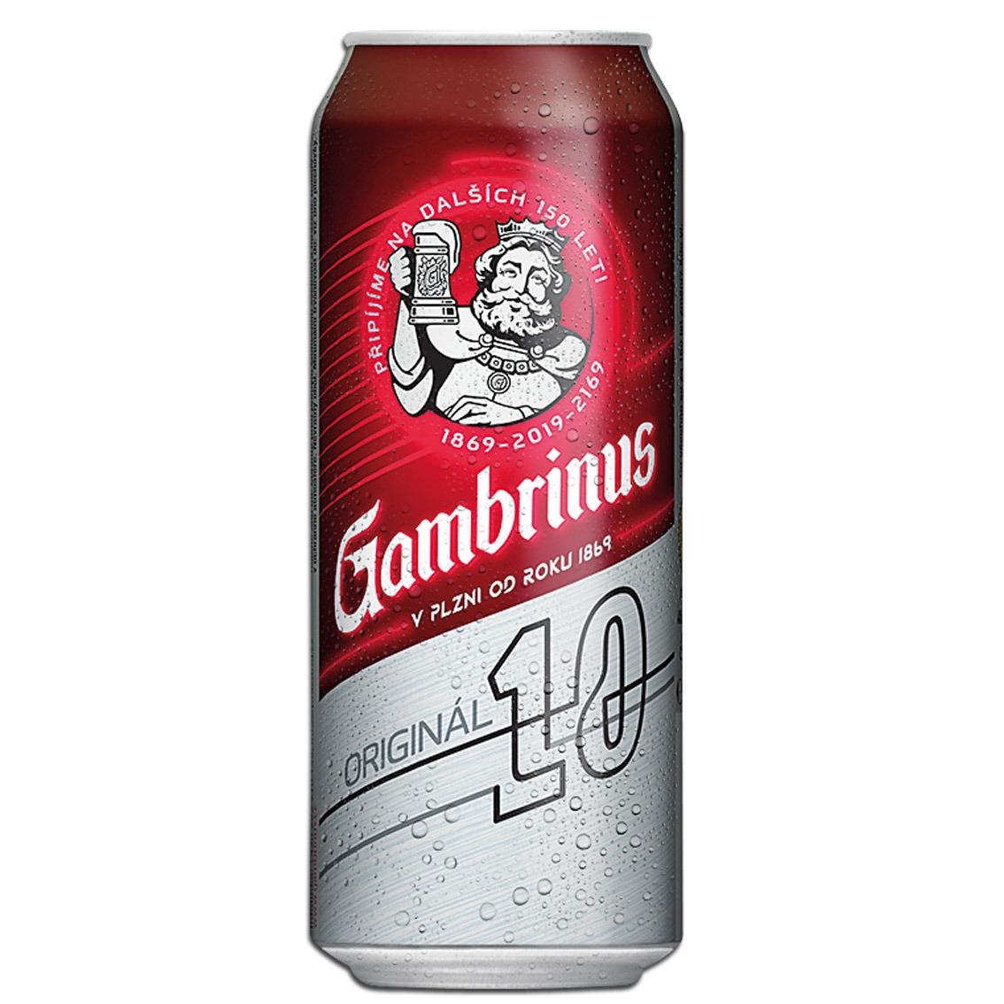 Pivo Gambrinus pl. 10% 0,5 l
